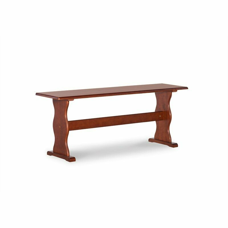 Linon Chelsea Wood Dining Nook Bench in Walnut