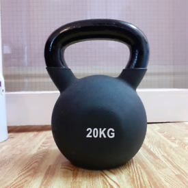 20kg Kettlebell Cast Iron Rubber Coated