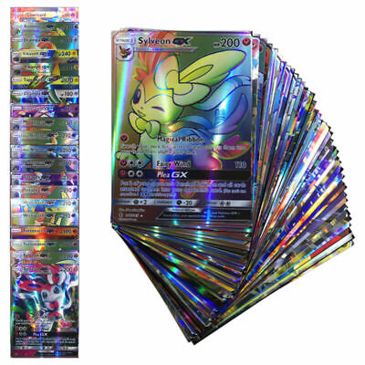 Hot Sale! 100 Pcs/Set 20Pcs GX Cards+80Pcs EX Cards English Pokemon Cards