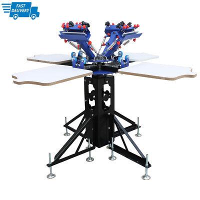 4 Color 4 Station Screen Printing Machine Silk Screen Shirt Press Screen Printer