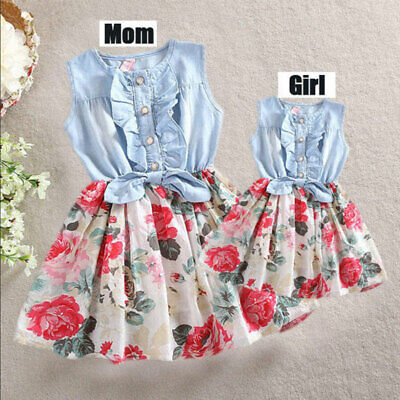 Family Dress Mother and Daughter Matching Girls Daughter Outfits Clothes Dresses (Family Dresses)