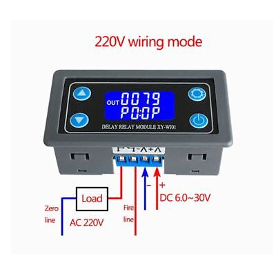 XY-WJ01 Delay Relay Module With Digital LED Display Cycle Timing Circuit Switch