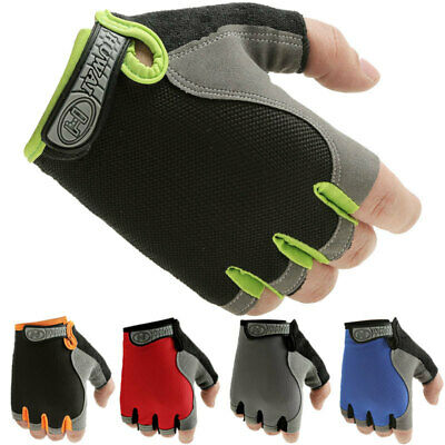 Sports Fingerless Gloves - Motorcycle Weight Lifting Gym Training Biker Driving