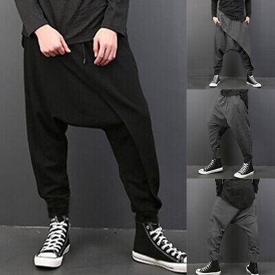 INCERUN Men's Harem Trousers Aladdin Yoga Hippy Pants Drop Crotch Long Trousers