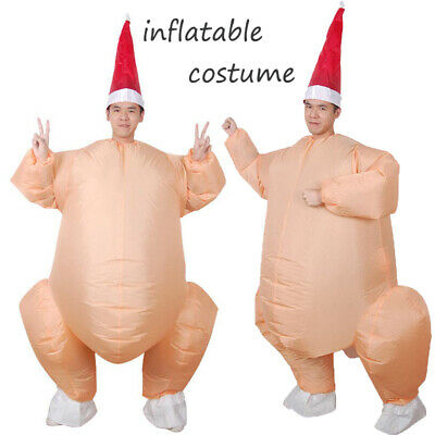 Funny Inflatable Christmas Roast Turkey Costume Fancy Dress Blow up Outfit 2019](Inflatable Christmas Turkey Costume)