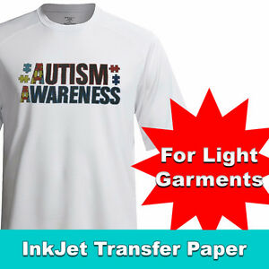 TRANSJET II INKJET LIGHT SOFT HEAT TRANSFER PAPER 8.5 X 11 IN.