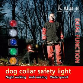 pet safety collar lights led flashing dual function water proof