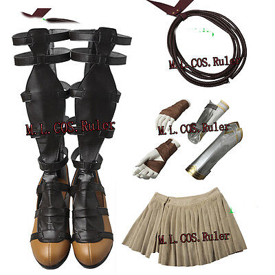 Hot Diana Prince Cosplay Costume Wonder Woman Cosplay Accessories Shoes Dress