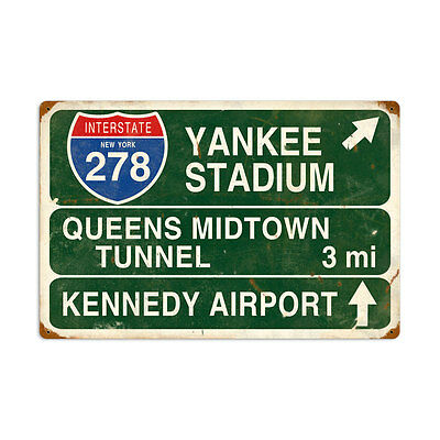 Vintage Style Retro Yankee Stadium 24 in. x 16 in. Steel Metal Sign