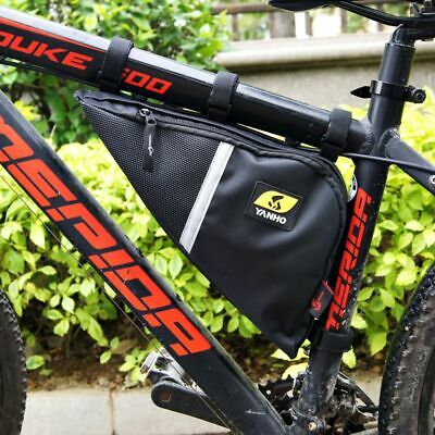 2019 Black Mountain Bike Bicycle Frame Front Tube Triangle Bag (Best Mountain Bike Frames 2019)
