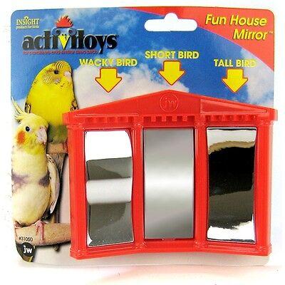 JW Pet Company Activitoys Fun House Mirror Bird Toy, Colors