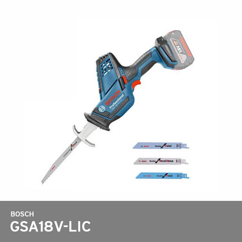 Bosch GSA18V-LIC Reciprocating Cut Saw Cordless 3,050spm 5.5