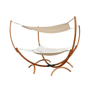 SQUARE HAMMOCK STAND WITH HAMMOCK AND CANOPY, YARD, TERRACE