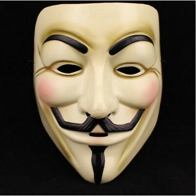 V For Vendetta Mask Guy Fawkes Anonymous Halloween Masks Fancy Dress Costume RR
