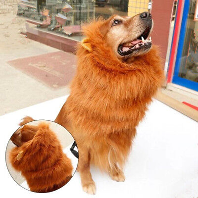 Lion hair Mane Costume for Dog Halloween for Dog Clothes Festival Fancy Dress - Lion Halloween Costume For Dogs