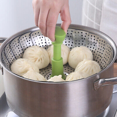 Plegable Plato Steam Acero Inoxidable Comida Cesta Vaporera Malla Vegetal Cocina