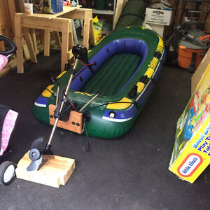 Inflatable Boat + Trolling motor + more