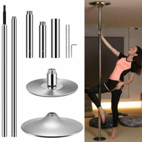 45mm Dance Pole Kit Stainless Steel Fitness Dancing Stripper Exercise Club Party