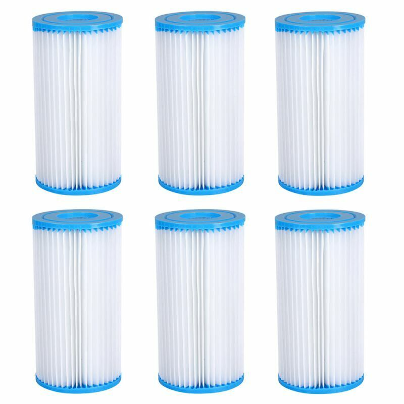 Summer Waves Swimming Pool Type A or C Filter Replacement Cartridges 1/2/4/6PCS