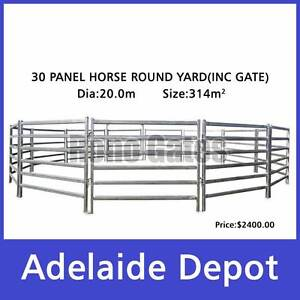 20m Diameter Horse Round Yard Panel Cattle Panel30pcs Inc. Gate Ferryden Park Port Adelaide Area Preview