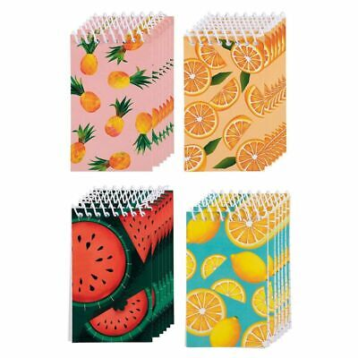 24 Spiral Notebooks For Journalingnote Takinglined Paper 4 Fruit Design 3x5