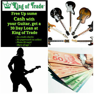 Get some Cash, KEEP your Guitar at King of Trade!