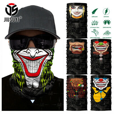 Clown Joker Cycling Motorcycle Neck Warmer Face Mask Ski Scarf Balaclava Bandana](Joker Ski Mask)