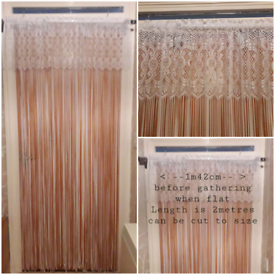 BEAUTIFUL WHITE NET FLY/DOOR CURTAIN