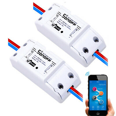 2 Pcs Sonoff  WiFi Wireless Smart Switch Module Shell ABS Socket for Home DIY