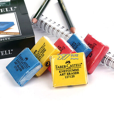 2pcs Faber-Castell Kneadable Drawing Rubber Eraser Pencil Graphic Sketch 7120