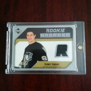 Sidney Crosby Rookie Threads Jersey Card