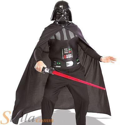 Adult Darth Vader Star Wars Halloween Fancy Dress Costume Kit & Lightsaber