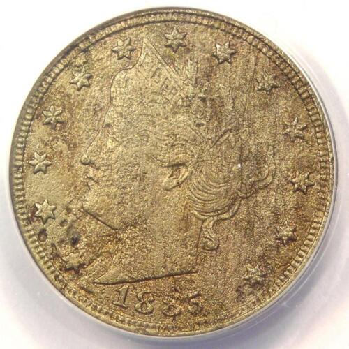1885 Liberty Nickel 5C - ANACS VF20 Details - Rare Date Certified Coin!
