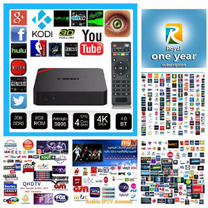 Android TV Box + Included 1Year Royal IPTV Subscription!