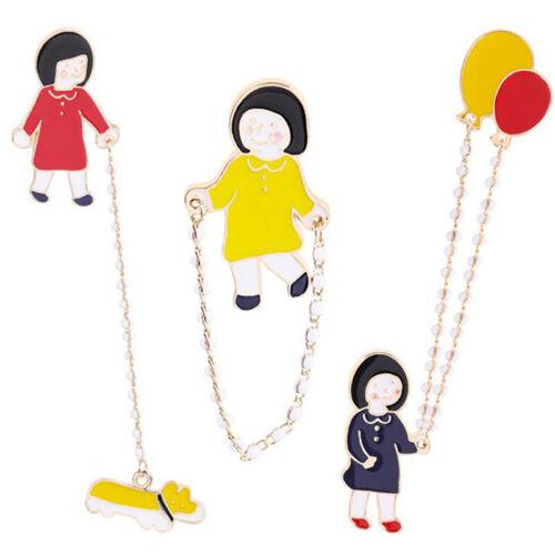 Fashion DIY Cartoon Pin Fun Badge Brooch Enamel Pins Jewelry jian
