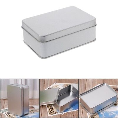 Small Metal Tins (Small Metal Tin Silver Storage Box Case Organizer For Money Coin Candy)