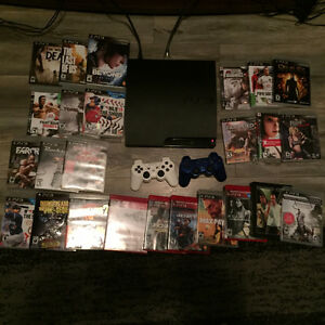 120GB PS3/ 25 Games ! 2 controllers/ cables included