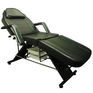 Salon SPA noire Massage Lit Tattoo Chaise Facial Adjustable