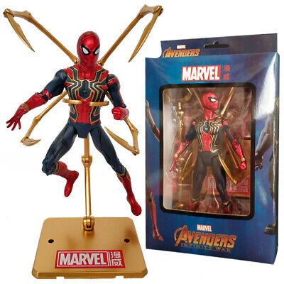 Marvel Avengers Iron Spiderman Action Figure PVC Model Toy 17cm Hot Sale T T