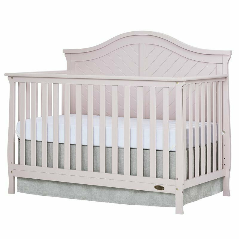 Dream On Me Kaylin 5 in 1 Convertible Crib in Blush Pink
