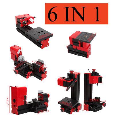 6 in 1 Mini Drehmaschine Drehbank Metalldrehbank Metalldrehmaschine DIY Drehbank