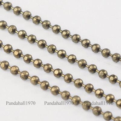 - 1Roll Antique Bronze Faceted Brass Ball Beads Chains Marking 1.5mm Diameter