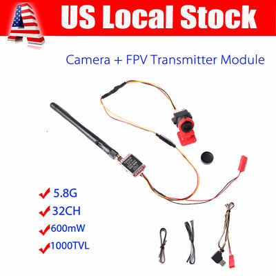 TS5828 32CH 600mW 5.8Ghz Transmitter +1000TVL Mini FPV Camera SMA For Quadcopter