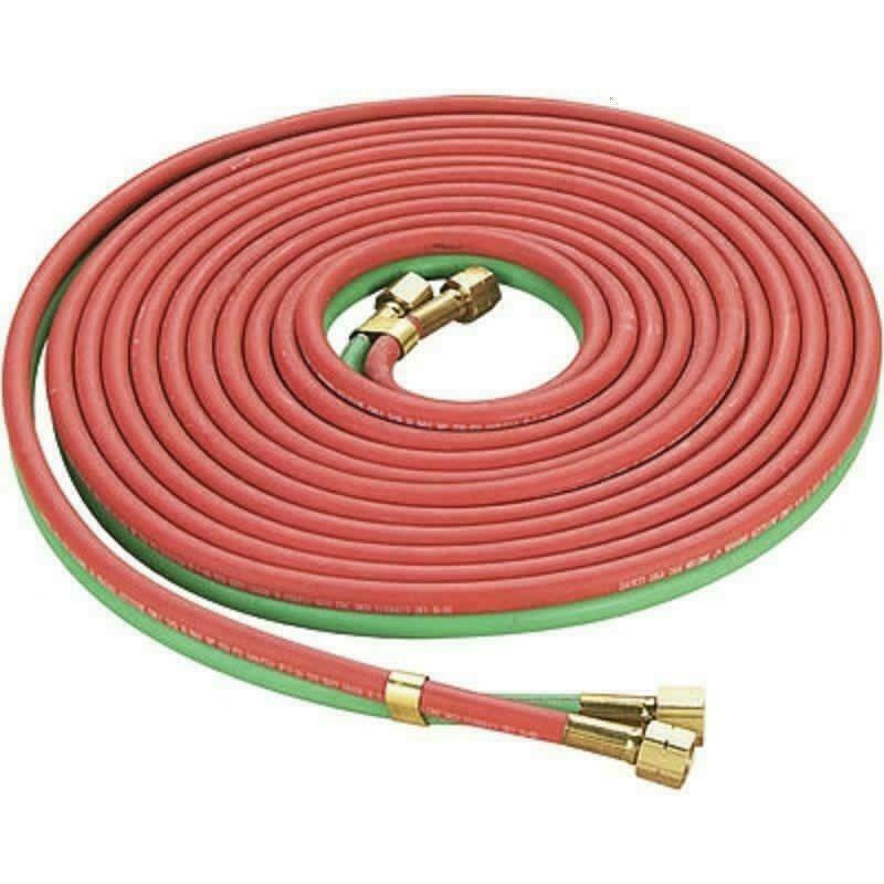 """300PSI 25ft Oxy-acetylene Twin Welding Hose Red & Green 1/4"""" Cutting EPDM Rubber"""