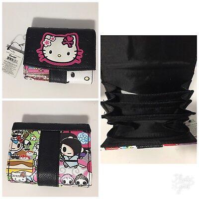 2014 Rare NEW Sanrio Tokidoki Hello Kitty kimono multipocket snap wallet