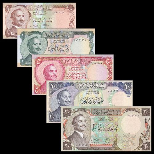 Jordan set 5 PCS, 1/2 1 5 10 20 Dinar, 1975, UNC