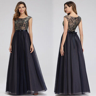 EverPretty US Lace Long Bridesmaid Dress ALine Homecoming Celebrity Prom Gowns