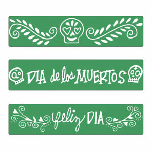 Sizzix 3PK Embossing borders  - Day of the Dead - $9
