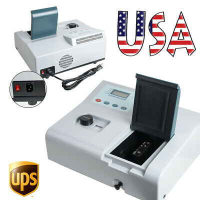 Visible Spectrophotometer Digital Vis Reader 350-1020nm Tungsten Lamp Machine