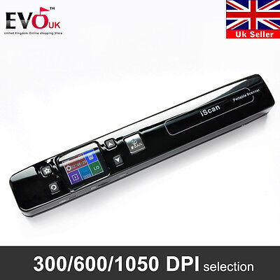 iSCAN 1050DPI Portable Handheld Scanner A4 Photo Document Book Digital Handyscan